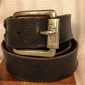 Penguin original vintage distressed leather belt